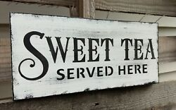 farmhouse wood sign SWEET TEA home decor wooden rustic country kitchen family $16.99