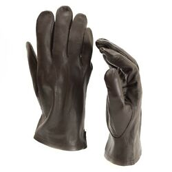 Genuine Belgian army gloves leather black brown military full finger surplus $17.21