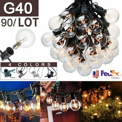 LOT 900pcs LED String Light Patio Party Yard Garden Wedding G40 Bulb Outdoor EQ