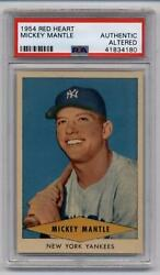 1954 Red Heart Dog Food Mickey Mantle Yankees PSA AUTHENTIC - AMAZING!