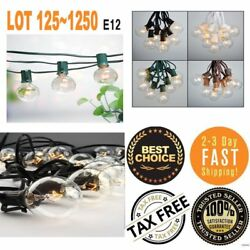 1250 PCS  String Light 100FT Clear G50 Outdoor Garden Globe Party Bulb Patio EQ