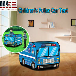 Portable Play With A Police Car Design Tent Happy To Play House Kids Play Tent