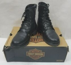 Harley Davidson Womens Boots Leather Motorcycle D84070 Kelly Welt Lace Size 7 $89.80