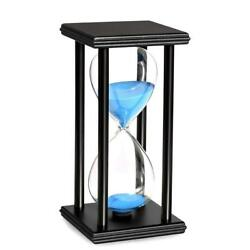Wooden Sand Hourglass Large Clock Vintage 8 Inch One Hour Retro Timer Decoration