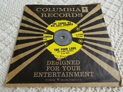 THE FOUR LADS THINGS WE DID LAST SUMMERPUT A LIGHT IN THE WINDOW COLUMBIA 41058