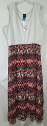Rue21 Plus Juniors 3X Dress Sleeveless Native Aztec Print Attached Necklace NWT $19.98