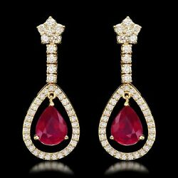 Genuine Ruby or Tanzanite and Diamond Earrings 14K Gold-Helps Rescued Animals!