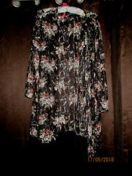 WOMENS Beach Bathing Suit Cover up WOMENS SIZED PLUS 1X MULTI COLORED FLORAL $29.99