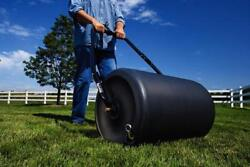 Professional Lawn Roller Heavy Duty Poly Drum Push Tow 18 X 24