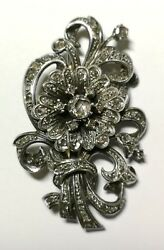 VICTORIAN BROOCH. 18K GOLD SILVER AND OLD CUT DIAMOND. SPAIN. 19th CENTURY