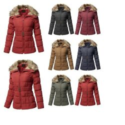 FashionOutfit Women#x27;s Casual Zip Up Quilted Fur Trimmed Collar Padding Jacket $12.99