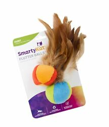 SmartyKat Feather Cat Toys Flutter Ball 2 Pack $4.82