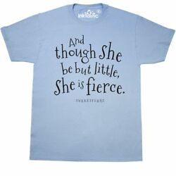 Inktastic Though She Be But Little Shakespeare Quote T-Shirt William Literature
