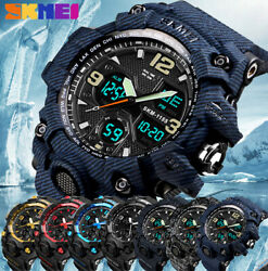 SKMEI Army Military Waterproof Sport Men#x27;s LED Quartz Analog Digital Wrist Watch $13.99