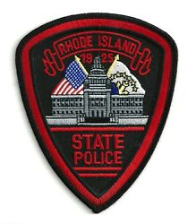 RHODE ISLAND STATE POLICE SHOULDER PATCH IRON OR SEW ON PATCH $7.00