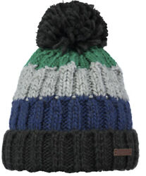 2019 NEW ADULT BARTS BEANIE WILHELM HAT GREEN MULTI COLOUR  KNIT + POM  STRIPE