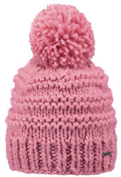 2019 NEW BARTS ADULT BEANIE JASMIN HAT PINK KNIT POM LADY WOMENS