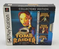 Tomb Raider Collectors Edition 1 2 3 Box Complete for PlayStation 1 PS1 PS2 PS3