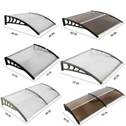 Outdoor Patio Window Front Door Awnings Canopy Cover Snow Rain Protector Shade $61.98