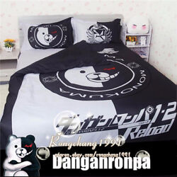 Anime Danganronpa Monokuma Bedding Set  Sheet Pillowcase Duvet Cover 34 pcs Set