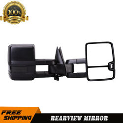 L+R Towing Mirrors For 03-07 Chevy GMC Power Heated Signal Light Updated Style