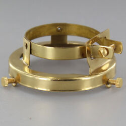 SOLID BRASS 2 1 4quot; Clamp On Lamp Shade Holder PORCELAIN Socket #GB189 $9.22
