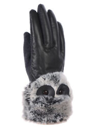 Women's Dressy Winter Gloves Touch Screen Leather Thermal Lining Fur Trim Cuff $8.99