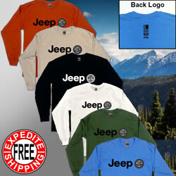 Jeep Style T shirt Wrangler Rubicon Sahara Long Sleeve Trail Rated Offroad 4x4 $19.99