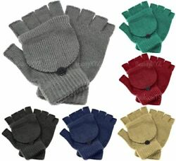 NEW Unisex Mitten Gloves Fingerless Insulated Knit Winter Gloves Men Women Warm $8.79