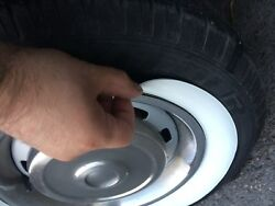 15quot; Rim White wall Rubber Disc Ring Round TOPPER Tire Trim PORT A WALL Set of4 $69.00