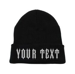 Custom Embroidery Personalized Text Ski Toboggan Knit Cuffed Embroidered Beanie