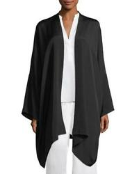 NWT Eskandar Size 1 1x 2x Black Heavyweight Silk Crepe Jacket