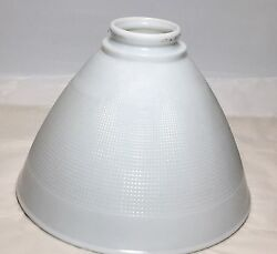 CORNING 8quot; Milk Glass Rembrandt Waffle Torchiere Floor Lamp Shade Diffuser NICE $37.00