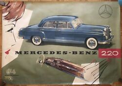 SHE - MRS. -  Mercedes Benz 220 Paper Sign Original Awesome