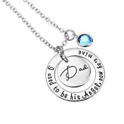 I used to be hisher angelnow he'sshe's mine DadMom Memorial Necklace Cute