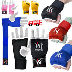 Gel Inner Gloves With Wrist Hand Wraps Padded MMA Boxing Muay Thai PAIR $7.99
