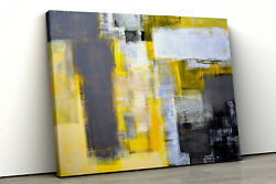 Yellow grey office abstract painting Framed bedroom Canvas Print Wall Art pp147 GBP 35.35
