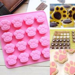 Cat Dog Paw Silicone Cake Chocolate Mold Soap Ice Cube Mold Cake Decorating Tool