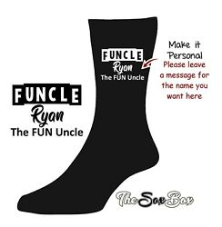 FUNCLE Uncle SOCKS Personalised Unclesaurus Best Awesome NOVELTY Birthday GIFT GBP 5.99