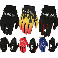 Thrashin Supply Stealth Gloves Touchscreen Motorcycle Gloves Pick Size Color $30.00
