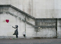 Banksy There Is Always Hope Graffiti Art Giclee Canvas Print 11.5