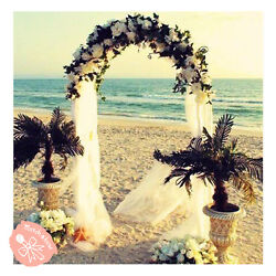 7.5 Feet White Metal Arch for Wedding Party Decoration Free amp; Fast Shipping $22.75