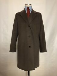 LORO PIANA 100% Cashmere Storm System man coat size it 52 uk 42 Made in Italy