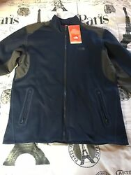 NWT The North Face Mens TKA Stealth Full Zip Fleece Jacket $99 XL