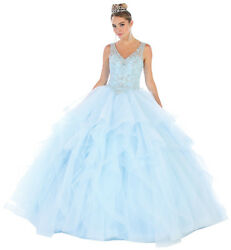 SWEET 16 PARTY BEAUTY PAGEANT FORMAL BALL DESIGNER GOWNS PROM DRESSES QUINCE