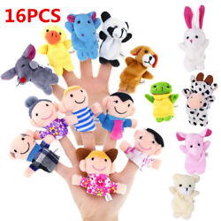 1016pc Cartoon Finger Puppets Cloth Plush Doll Baby Educational Hand Animal Toy