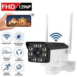 360° Wireless Outdoor IP Camera HD 1296P WiFi 5X ZOOM CCTV Security IR Webcam US $39.99