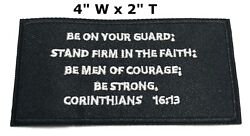 CORINTHIANS 16:13 Iron-On Patch Christian Morale Tactical Military Emblem