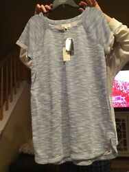 NWT WOMENS STEIN MART MAX EDITION SHOTY SLEEVE LONG TOP SIZE XLP $25.00
