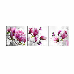 Canvas Print Picture Paintings Photo Wall Art Home Decor Pink Flower Gift Floral $25.90